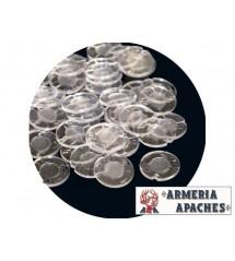 Dischetti Trasparenti in plastica lisci per caricamento Cal. 12 pz. 250