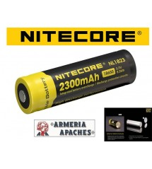 Nitecore 18650 BATTERIA 2300 mAh 3,7V NL1823 Li-ion RICARICABILE OLTRE 500 CICLI