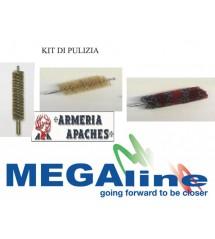 Kit pulizia scovoli per canne fucili e pistola Megaline